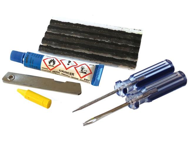 Diverse Kit de reparación Tubeless Weldtite - para cubiertas sin cámara incl. Herramientas